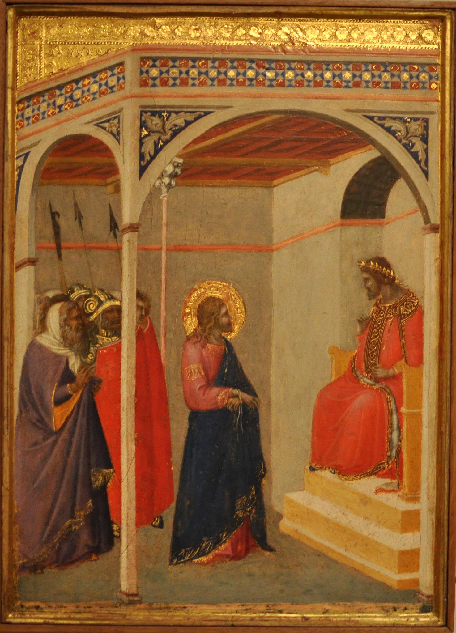 Pietro Lorenzetti: Christus voor Pilatus
