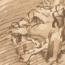 Rembrandt Harmensz. van Rijn: Daniël in de leeuwenkuil
