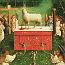 Jan van Eyck: De aanbidding van het Lam Gods (middenpaneel)